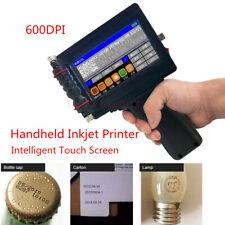 Handheld Inkjet Printer 600DPI Ink Date Words QR Code Barcode Logo Machine DIY
