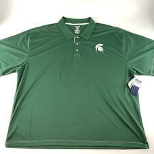 Michigan State Spartans Football Mens ProEdge Athletic Polo Sz 4XL Dri-Fit Style