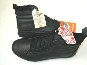 Vans Mens Sk8-Hi MTE Leather All Weather Skate shoes Triple Black Size 10 NWT