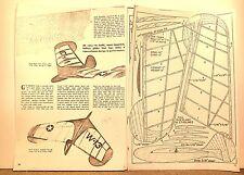 "THE ARROWHEAD GLIDER FLYING MODEL AIRPLANE PLAN 14"""