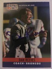 DAN REEVES signed football card DENVER BRONCOS autograph