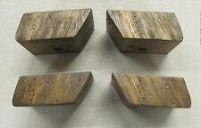 wooden furniture legs (set of four) rustic finish, sofa feet, chair, footstool