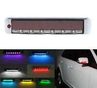 KE_ Solar Car Door Edge Guard Anti-collision Anti-static LED Warning Light Eff