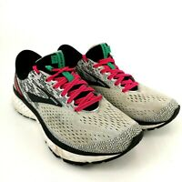 Brooks Ghost 11 Running Athletic Shoes - Gray / Pink / Black - Women's Size 9