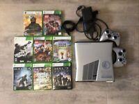Microsoft Xbox 360 S Halo: Reach Limited Edition 250GB Silver Console W/8 games