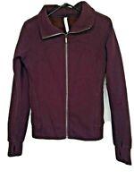 Lululemon Womens Purple Travelers Coat Jacket Full Zip Thumb Holes Size 10 Large