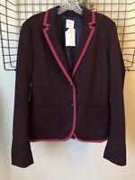 Gap Academy Blazer Jacket Cardigan Size 8 Tall Vamp Red New Worn On TV