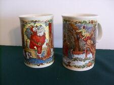 Set Of 2 Dunoon Scotland Christmas Cheer Mugs