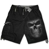 Spiral Direct SHADOW MASTER - Vintage Cargo Shorts Black Metal/Biker/Rock