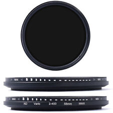 58mm Neutral Density Variable Nd Adjustable Filter Nd2 to Nd400 for Canon Lf111