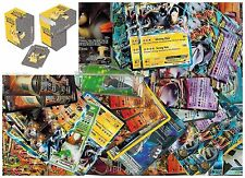 Pokemon TCG 50 CARD LOT : in a Collector's Pikachu Box  Common Uncommon & HOLOS