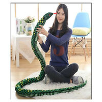 QW Large Plush Soft Toy Animal Snake Pillow Stuffed Toys Gift Decor