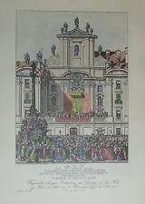 Carl Schütz: Seegens Ertheilung Pius VI 1782 Wien Kunstblatt Reproduktion print