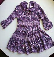 Pumpkin Patch dress size 5 purple floral long sleeve. A