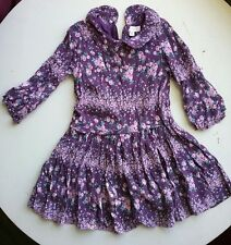 Pumpkin Patch dress size 5 purple floral long sleeve. A