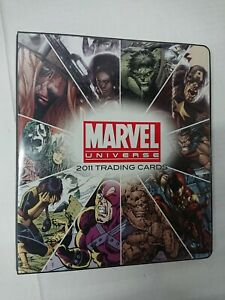 MARVEL UNIVERSE 2011 Binder Album with P3 Promo Card by Rittenhouse Scifihobby