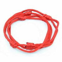 3 bracelets ROUGE à cordon chanceux kabbale faits main pour succès et chance