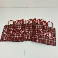 21 Snowflake Small Gift Bags/Totes - Red, White and Green
