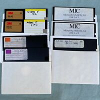 """MS DOS MIC 5.0 4.01 5.25"""" Floppy Disk Lot PC Software Computer Vintage Microsoft"""