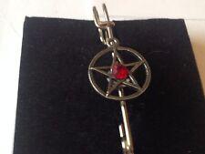 "Red Pentagram code dr91 Scarf , Brooch and Kilt Pin Pewter 3""  7.5 cm"