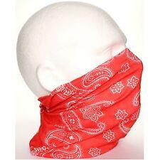 Tubo Redecilla Bufanda Rojo Blanco Paisley Biker Máscara Bajo Casco De Esquí Cara Cuello Multi U
