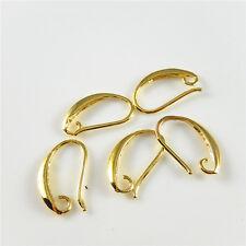 20pcs/lot Gold Color Brass Ear Hook Earring Accessories DIY Jewelry Ctafts 52433
