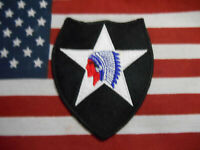 US ARMY VIETNAM ERA 2ND INFANTRY DIVISION COLOR SSI PATCH