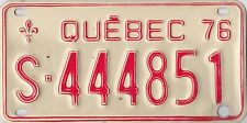 AUTHENTIC CANADA 1976 QUEBEC SNOWMOBILE (MOTO-NEIGE) LICENSE PLATE. TRIPLE 444