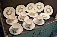 SCIO Holly CHRISTMAS Holiday Coffee & Cake Set 6 Cups Saucers 6 Dessert Plates