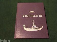 ORIGINAL 1981 SWAN VALLEY HIGH SCHOOL YEARBOOK VALHALLA  SAGINAW, MICHIGAN (219)