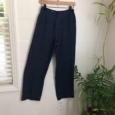 Vintage Full Leg Linen Pants Denim Sailor High waisted Jones Of New York 4 S USA
