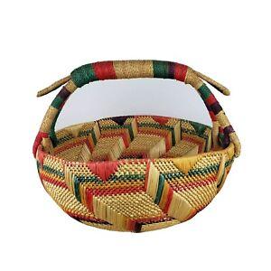 Large Woven Multicolor Basket