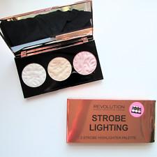 Makeup Revolution Strobe Lighting 3 Strobe Highlighter Palette Rose Gold Bnib