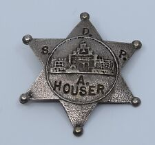 Tufa cast sterling silver star pendant Allan Houser's badge by Anthony Lovato