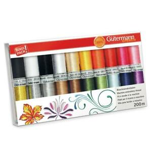 Gutermann Sulky Rayon 40 200m JUMBO Sewing Thread Set - 20x Reels