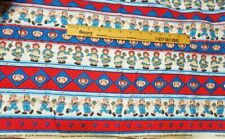 1 yard 6 inches RAGGEDY ANN & ANDY Cotton Fabric Piece