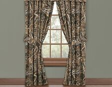 "Realtree Max-5 Lined Curtains 42"" x 84"" Geese Duck Grasses Camo Wildlife Hunting"
