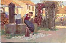 """Jetzt geh i ans Brünnerle"", Volkslieder Karte Nr. 34, Paul Hey, um 1910/20"