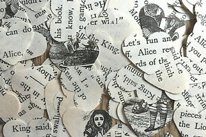 Mad Hatter's Tea Party/Wedding Heart Table Confetti - Alice In Wonderland/Rustic