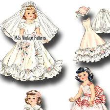 "Vintage 1950s Bride Wedding Dress Pattern ~ 14"" Betsy McCall"