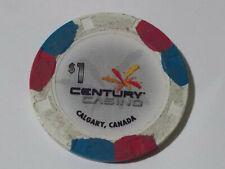 New ListingCentury Casino $1 hotel casino gaming poker chip ~ Calgary Alberta, Canada
