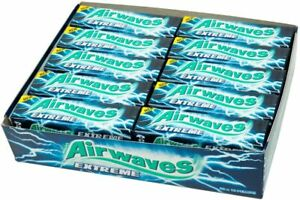 Wrigley's Airwaves Extreme Sugar fee Chewing Gum 30 packs of 10 pieces