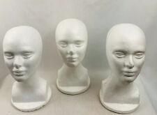 Wig Styrofoam Head Female Display White 3 Piece Set