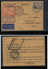 Germany   DOX  card   to   US    1931      KL0728