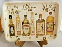 Olive Oil Bottles Melamine or Plastic Tray Made in Italy