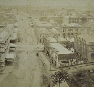 Scarce Early New Zealand Stereoview Photo Auckland By Burton Brothers Dunedin