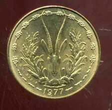 ETATS DE L'AFRIQUE DE L'OUEST  5 franc 1977 SUP