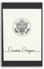 Ronald Reagan Signed Presidential Bookplate -- With JSA