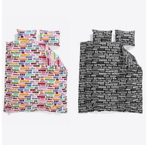 SUPREME x Hysteric Glamour Text Duvet & Pillow Set White Black Full Queen F/W 17