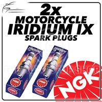 2x NGK Iridium IX Spark Plugs for SUZUKI 650cc SV650, SV650S 99->06 #4218
